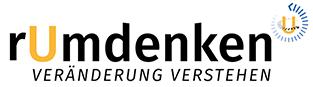 Logo zur Seite rumdenken, der Seite für Planspiele zu agilen Arbeitsmethoden und Veränderungsprozessen